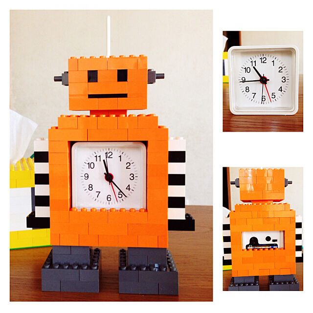 Lounge,時計,時計ロボ,目覚まし時計,ハンドメイド,LEGO,レゴ,ロボ,無印良品 kazukiの部屋