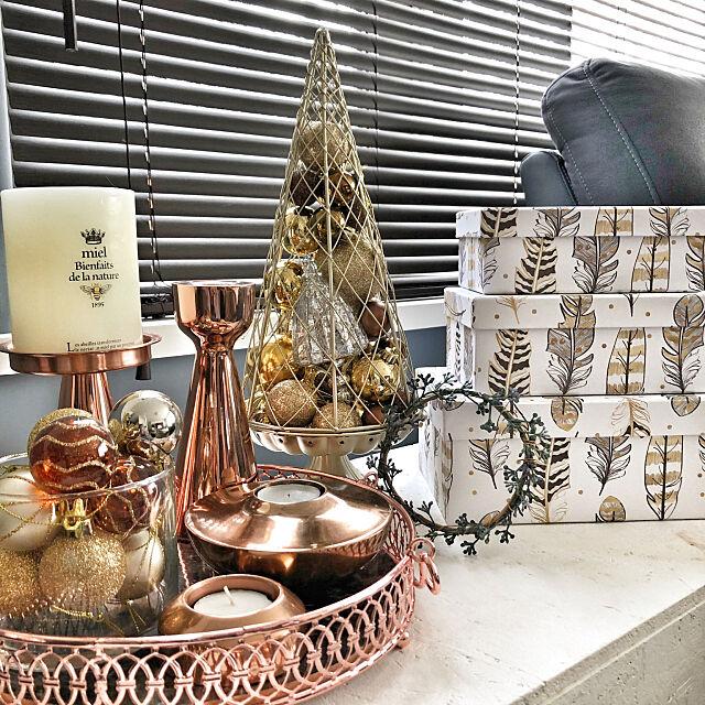 My Desk,ダイソー,キャンドル,100均,キャンドルホルダー,リメイク,ニトリ,モニター,クリスマスディスプレイ,H&M HOME,ニトリ2018クリスマスモニター Megumiの部屋