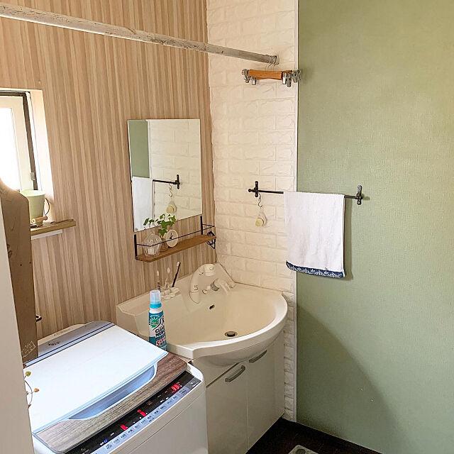 ワイドハイタークリアヒーロー,消臭除菌,ランドリールーム,部屋干し,洗濯機周り,Bathroom kuroの部屋