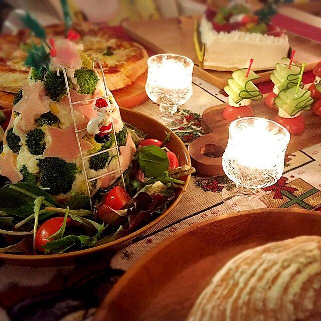 My Desk,クリスマスパーティー,クリスマスディナー,クリスマス,ポテサラツリー,赤ちゃんのいる暮らし,ニトリ,こどもと暮らす。 nekomusumeの部屋