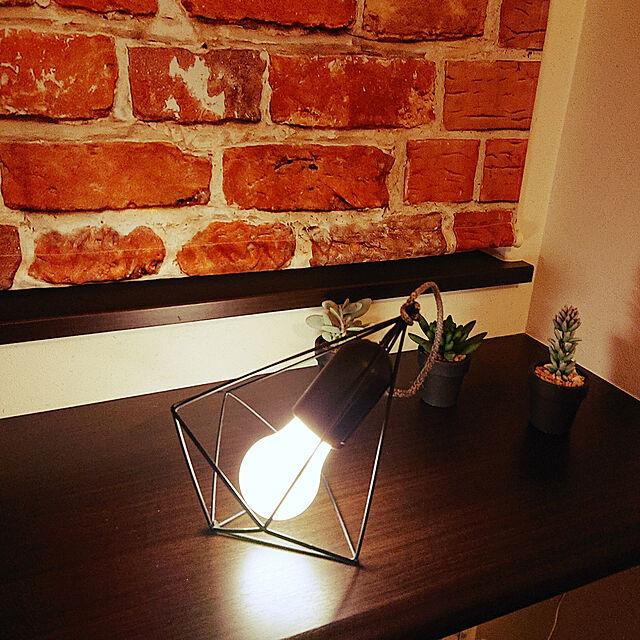 My Shelf,10分でできる,読書スペース,ダイソー,二階のホール,書斎,カフェ風,ライト,DIY,照明 Mie-koの部屋