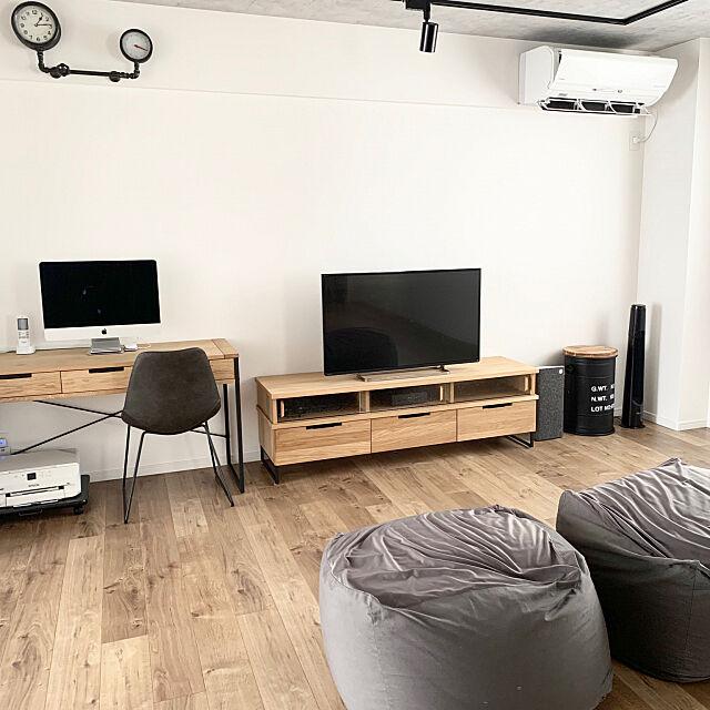 ソファーのない暮らし,リノベーション,男前,adepeche,スケルトンリフォーム,スケルトンリホーム,インダストリアル,無印良品 体にフィットするソファー,Lounge,二世帯住宅,初投稿 sakuの部屋