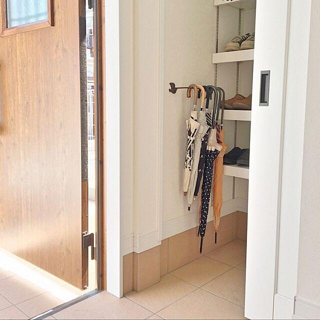 Entrance,玄関,アイアン,3Coins,シューズクローク,傘立て makochi.mの部屋