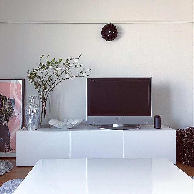 Lounge,ホワイトインテリア,IKEA,一人暮らし,1k 8畳,無印良品 hina139の部屋