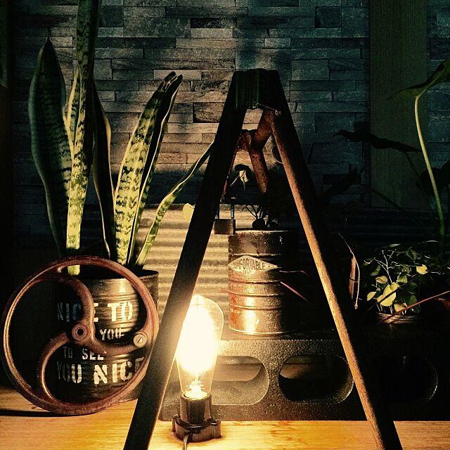 Entrance,tomoryuryuちゃんリメ缶✨,波板トタン,パイプ脚立,スチームパンク,男前,黒ブロック,木の家,何かのハンドル,路地裏インテリア mamyuの部屋