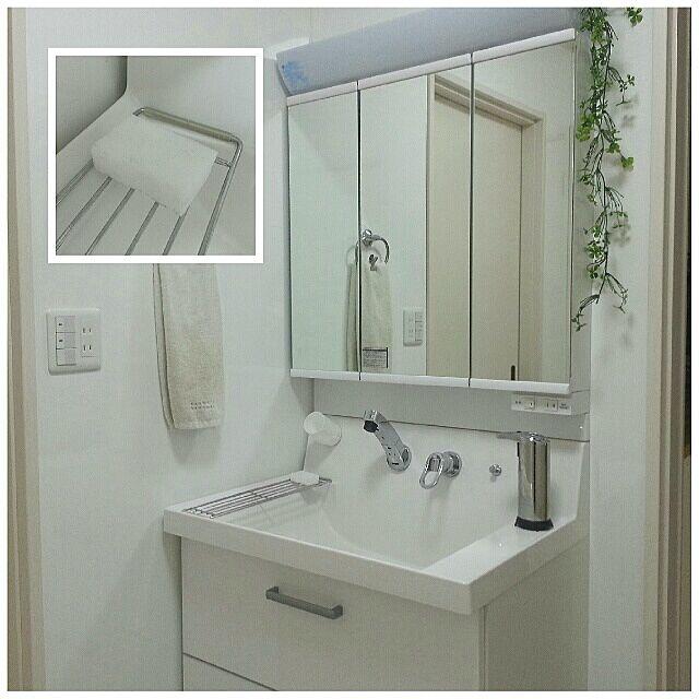 Bathroom,掃除部,ホワイトシンプル連合会,今まで黙っていて、ごめんなさい,白いメラミンスポンジ,洗面台 naoの部屋