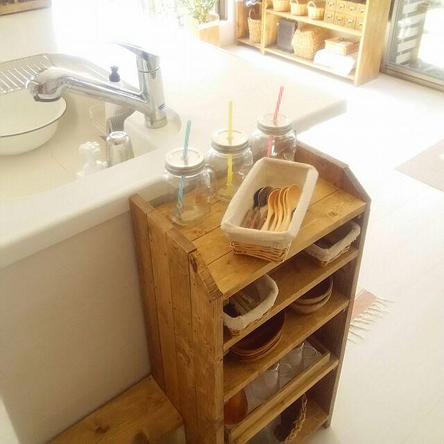My Shelf,収納アイデア,DIY棚,キャンドゥ,セリア,3coins ,ダイソー,かご大好き,2016.8.27,子供達が使いやすいように♡ flannel.の部屋