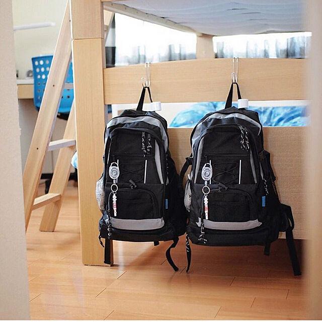 2段ベッド,防災リュック,防災グッズ,子供部屋,安全対策,収納,無印良品,Bedroom ku.ochoの部屋
