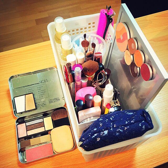 My Desk,100均アイテム,化粧品収納,化粧品 Leahの部屋