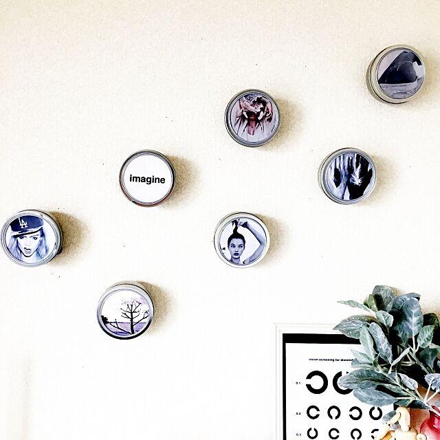 On Walls,ポスター,芳香剤ケース,マグネットケース,ダイソー yumiの部屋