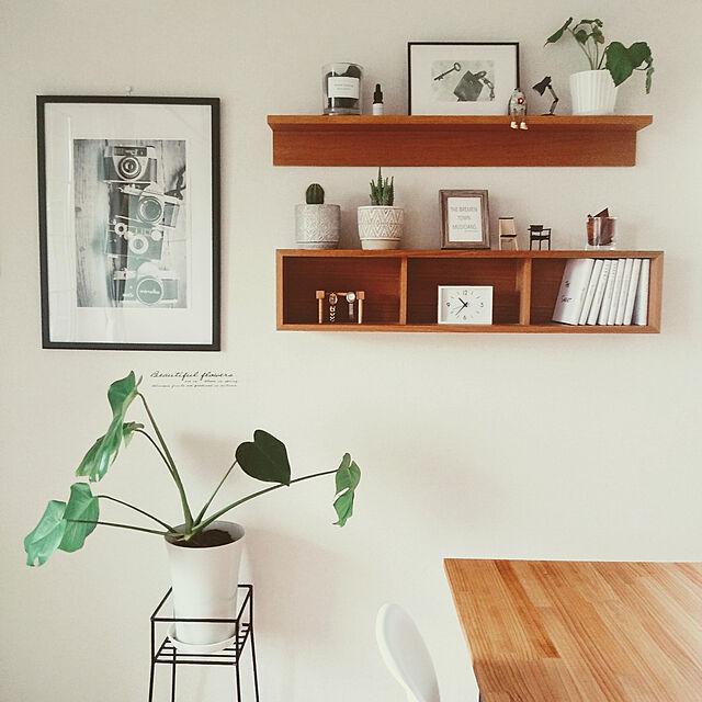 My Shelf,シンプルインテリア,いいね♪いつもありがとうございます❤️,駅の時計 アラームクロック アイボリー,無印良品,観葉植物,スッキリ暮らす,一人暮らし,シンプル,休日,賃貸,DIY女子 matteaの部屋