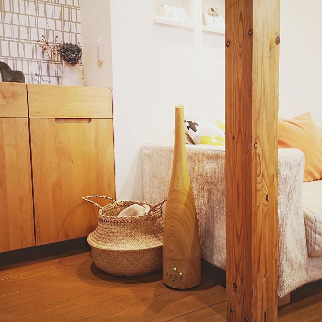 Lounge,加湿器,お気に入り,北欧,ナチュラル,雑貨,冬支度,IKEA,バスケット収納 hacoralの部屋