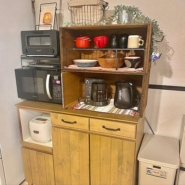 キッチン雑貨,キッチン,キッチン収納,りんご箱,りんごの木箱,食器棚,赤,DIY,カフェ風,賃貸,カインズホーム,カインズ DIY,Kitchen,コレ、DIYしたよ! Ayaneの部屋
