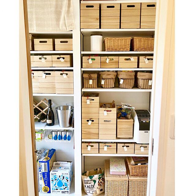 My Shelf,すきま収納,タグラベル,ワインクーラー,ワイヤーラック,パントリーの収納,パントリー,木製ボックス,ニトリ,北欧,リノベーション,家事楽,家事動線,ナチュラル,カフェ風,エンラージ,リフォーム 中古 kazumi_innbの部屋