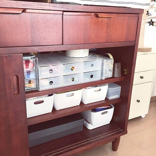 My Shelf,断捨離,収納見直し,道具箱,無印良品 硬質パルプボックス,ポリプロピレン小物収納ボックス6段,薬収納,セリア カトレケース,文房具収納,こどもと暮らす,無印良品,100均,カメラマーク対応 sou721の部屋