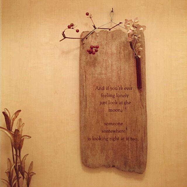 Bathroom,ステンシル,流木,ナチュラル,ドライフラワー,セリア,雑貨,DIY,カフェ風 eriの部屋