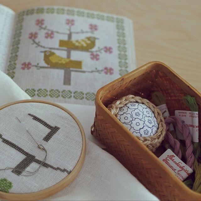 My Desk,デンマーク刺繍,フレメ,北欧,クロスステッチ刺繍,趣味の時間 rikkoの部屋