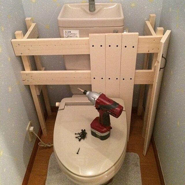 Bathroom,DIY,トイレ改造計画,タンクレス風,タンクレス DIY yuikokaの部屋