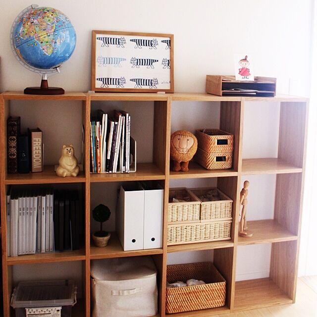 My Shelf,無印,無印良品,リサラーソン,地球儀,子供部屋,本棚 mujikkoの部屋