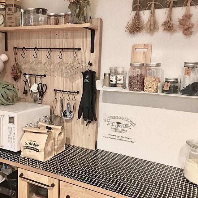 Kitchen,調味料棚,食器棚,いいね!フォローありがとうございます☺︎,ドライフラワー,セリア,無印良品,200いいね!ありがとうございます xoxoの部屋