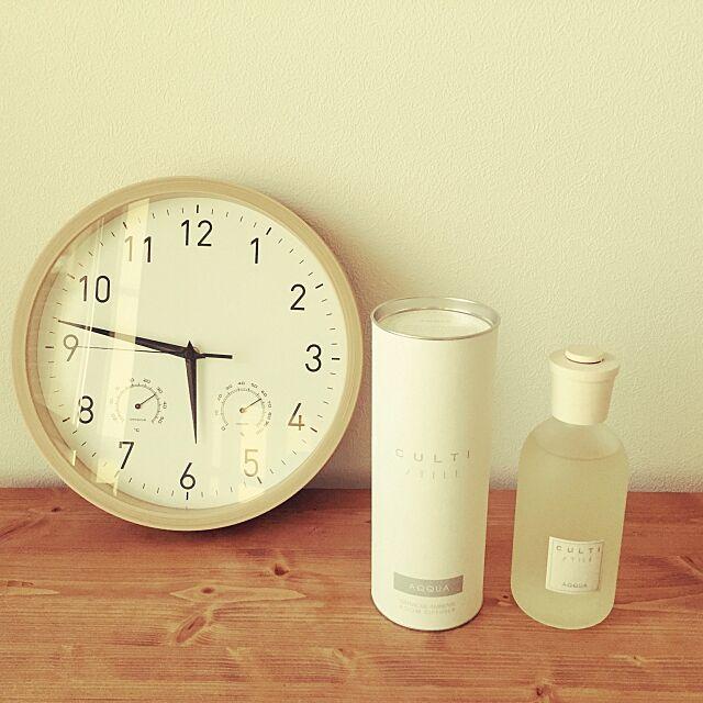 Lounge,電波時計,ルームフレグランス,CULTI,壁掛け時計,ニトリの時計,ニトリ uyukariの部屋