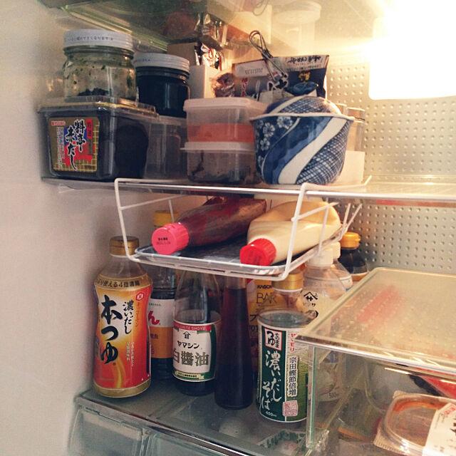 Kitchen,セリア,100均,オイルトレイ,ワイヤーラック,マヨネーズ,マヨネーズ収納,大掃除始めました,冷蔵庫収納 kikufujiの部屋