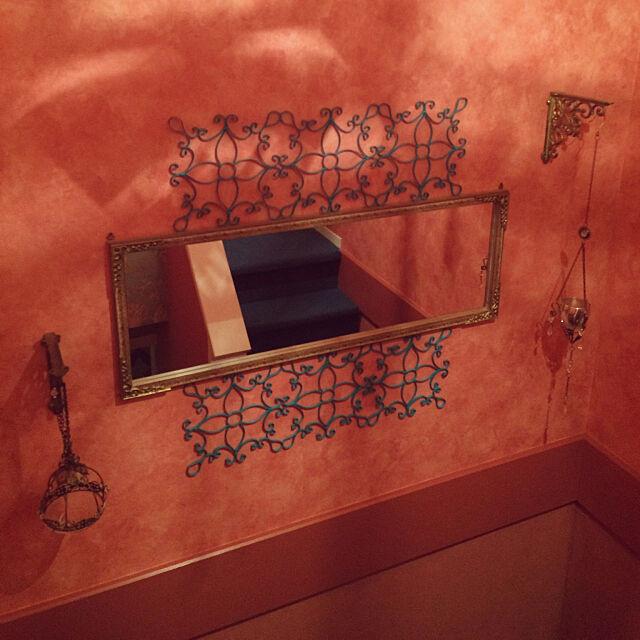 On Walls,アイアンブラケット,鏡リメイク,モロッコ風,モロッコ照明 himenekoの部屋