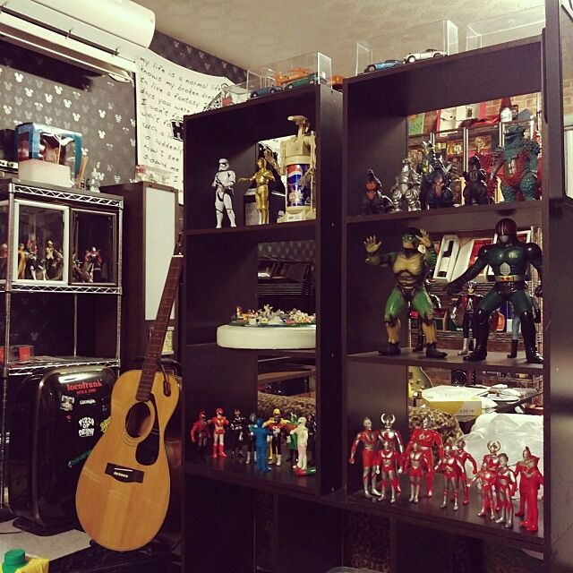 My Shelf,アメリカン,趣味,趣味スペース,コレクション,コレクションケース,アメリカンポップ,収納,雑貨,フィギュア,DIY,男前 momomoの部屋