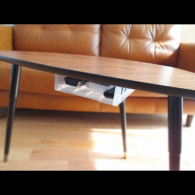 Lounge,カフェテーブル,リモコン入れ,ソファ,ienowa,無垢の床,樺桜,ブログやってます,IKEA,100均 _asa_3_1の部屋