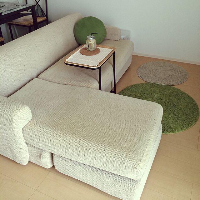 Lounge,スチールトレースタンド,サークルラグ,ソファ,無印良品,RC日本ど真ん中岐阜県支部 HM39の部屋