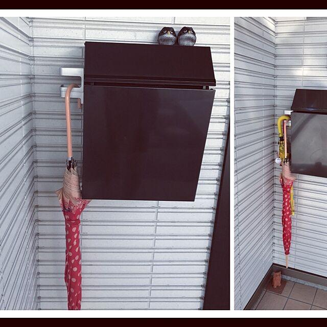 濡れた傘置き場,フクロウ,郵便ポスト,マグネット,傘たて,日替わり投稿企画!月曜日 ryu23naの部屋