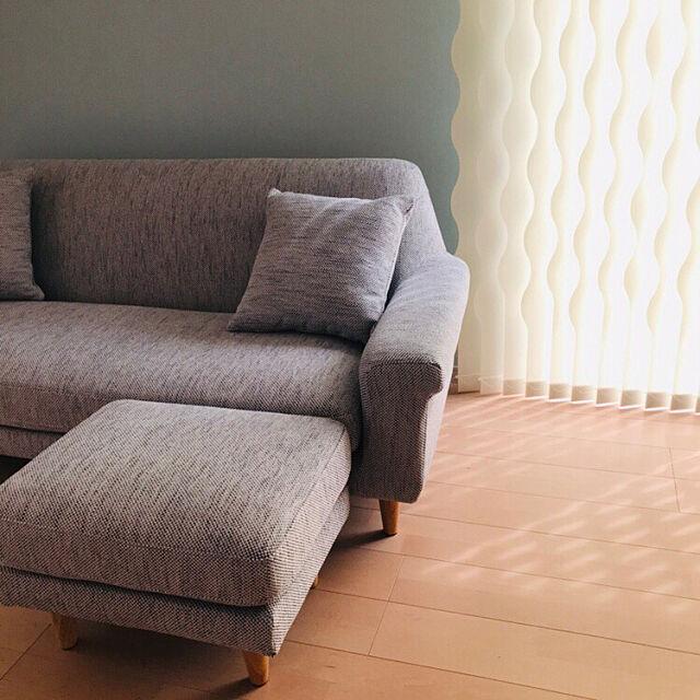 unico ソファ,アクセントクロス,北欧,バーチカルブラインド,Lounge 3chanの部屋