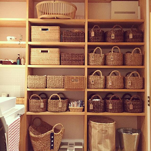 My Shelf,ニトリマガジン,ニトリかご,オープン収納,バスケット,脱衣所収納棚 onsix777の部屋