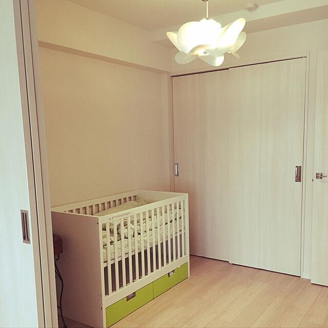 Bedroom,照明,IKEAベビーベッド,IKEA,ベビーベッド,コンランショップ yu_ueの部屋