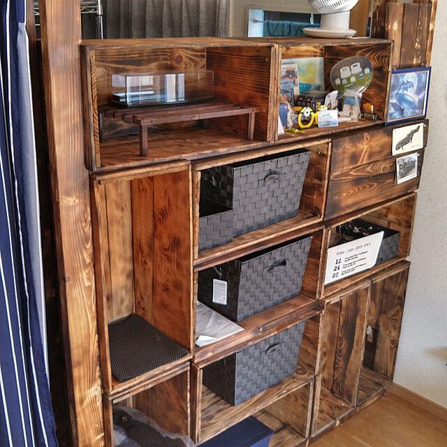 My Shelf,DIY,男前,リメイク,りんご箱,りんご箱リメイク,りんご箱収納,りんご箱棚 GENの部屋