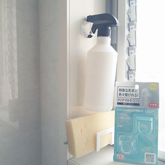 Bathroom,DAISO商品,クリアマルチフック,吊り下げ収納,収納,DAISO♥ aho51の部屋