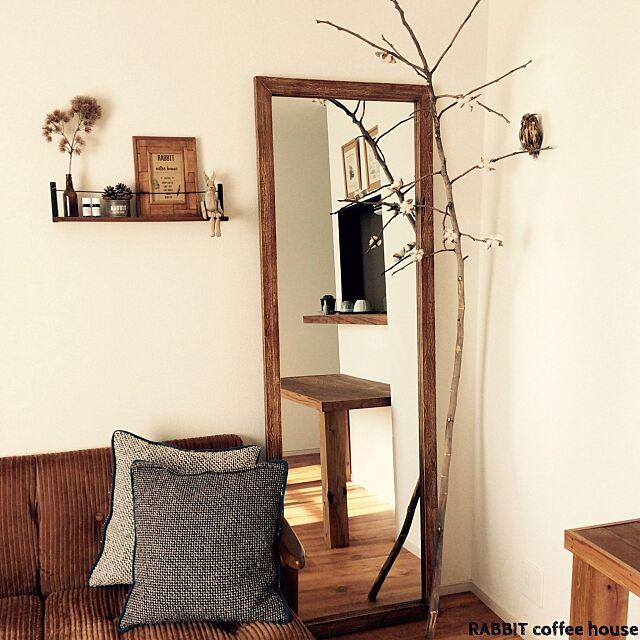 ミラー,姿見,賃貸,うさぎ雑貨,Overview nutsの部屋