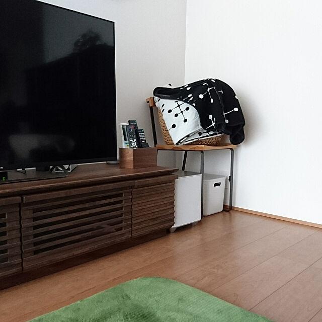 Lounge,10000人の暮らし,リモコン収納,リモコン,リモコン入れ,ブランケット,UNIQLO×EAMES yukoの部屋