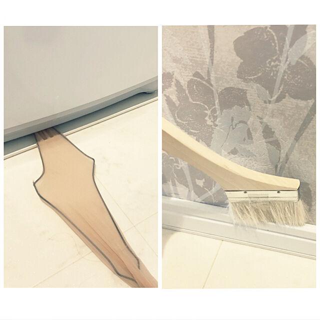 Bathroom,隙間掃除,洗濯機,洗濯槽,針金ハンガー,ハケ,掃除,刷毛,ストッキング Mの部屋