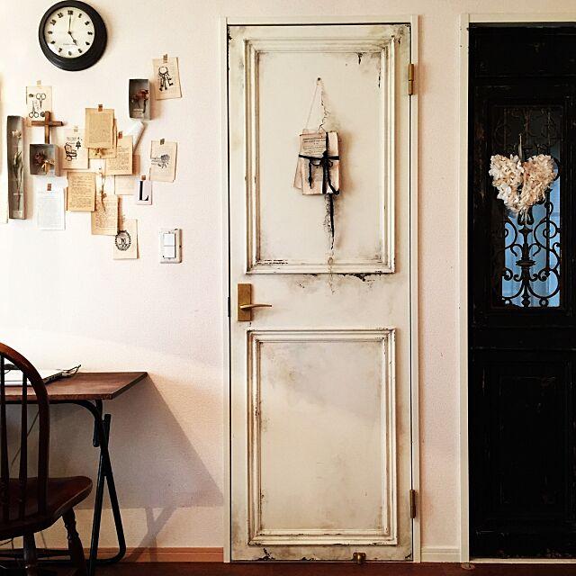 Lounge,ペイント,ドア,DIY,フレンチシック,建て売り,アンティーク,フレンチシャビー,ホワイトインテリア mitomamaの部屋