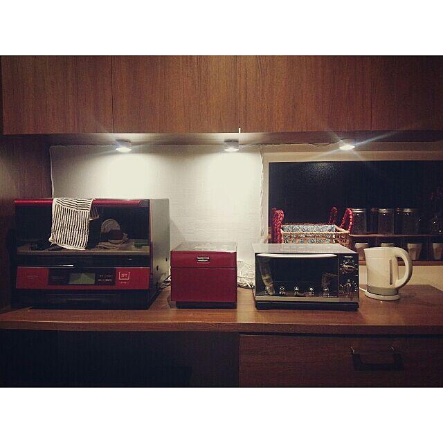 Kitchen,夜,nest,RC北海道支部,くつろぎの場所,シンプル,RC北海道道東支部,北欧,カフェコーナー,家電,赤い家電 Akaneの部屋