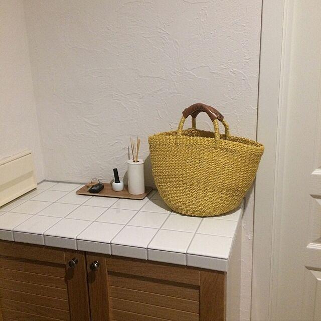 Entrance,下駄箱,塗り壁,無印良品,白い壁,タイル apiの部屋