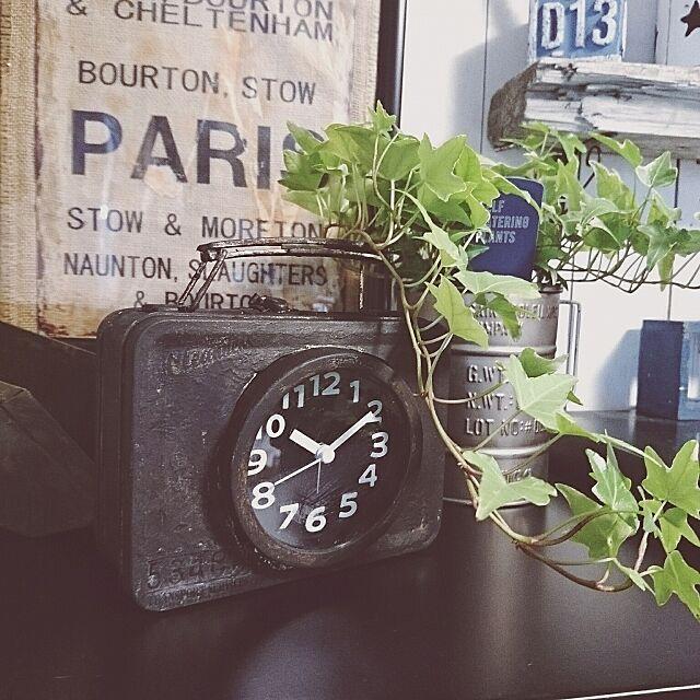 My Shelf,ダイソー,ダイソーリメイク,リメイク完成,10分では出来ない(笑),100均の材料のみ☆,100均リメイク,トランク型時計,時計リメイク,ダイソーの時計リメイク,材料は全て100均 okameの部屋