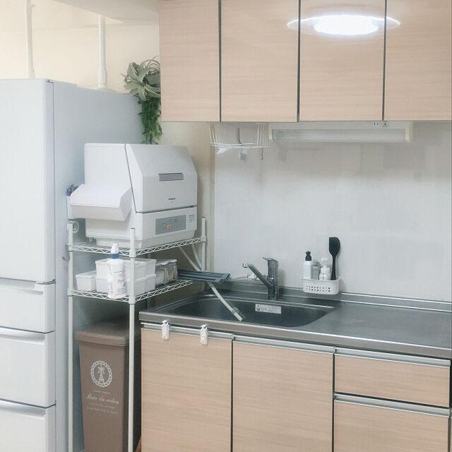 賃貸インテリア,賃貸,賃貸でも楽しく,家事楽したい,狭くても心地よく,家事をスムーズに,Kitchen aco912の部屋
