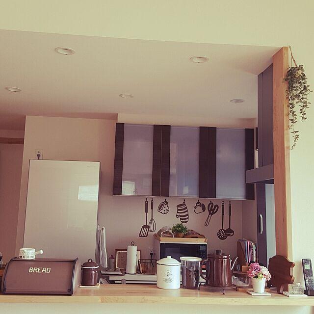 Kitchen,ウォールステッカー,フェイクグリーン,ホーロー,3coios,sulut! Ryokoの部屋
