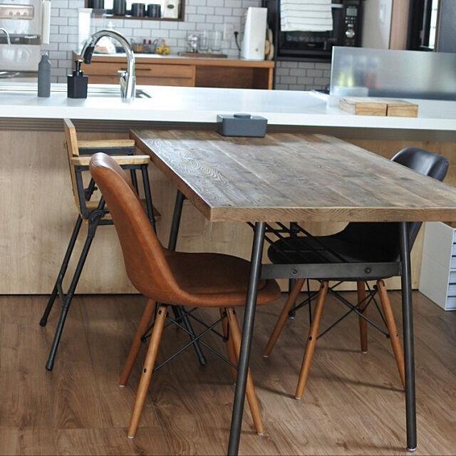 Lounge,ダイニングテーブル&チェア,マイホーム,男前,インダストリアル,新築,平屋,カフェ風 one_story_houseの部屋