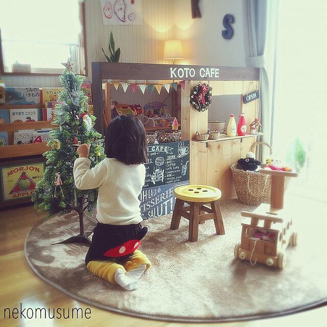 こどもと暮らす。,絵本棚DIY,お店屋さんごっこ,おままごとキッチンDIY ,キッズキッチン,キッズスペース,クリスマス,クリスマスディスプレイ,My Shelf nekomusumeの部屋