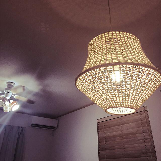 On Walls,ウッドブラインド,ダイニング 照明,ダイニングテーブル,IKEA 照明,戸建て,マイホーム yui-rの部屋