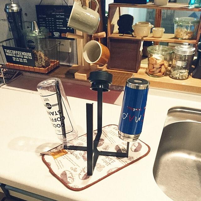 My Desk,新商品買ったよ!,2018年7月17日,いいね&フォローありがとうございます☆,RCの出会いに感謝♡,chinonちゃんの素敵便♡,ニトリのカップホルダー,SMAPのステンレスボトル,WECKの瓶,セリアのボヌール,ronmaruちゃんの素敵便♡,吸水マット,キッチンマルチスタンド,キャンドゥ lovepeaceの部屋
