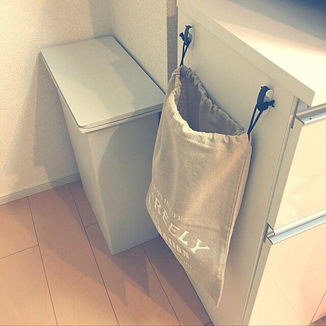 Kitchen,レジ袋収納,賃貸,幸せ気分♪,100均,セリア,DIY gumiminの部屋